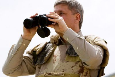 "Harper calls in fire mission on Taliban: ""Right 1 degree. Fire for effect!"""