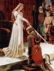 The Accolade - Edmund Blair Leighton - 1901