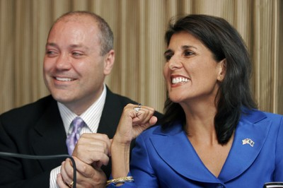 Nikki Haley and her husband Michael Haley