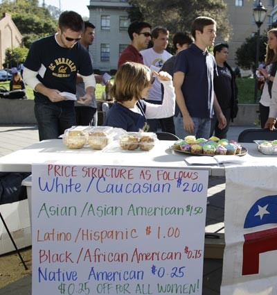 Berkeley College Republicans affirmative action bake sale