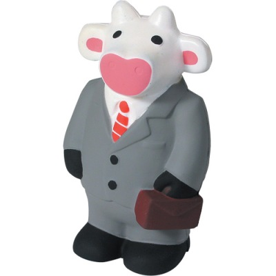 This is Mr. Moo. He is a businesscow. He's going to work.