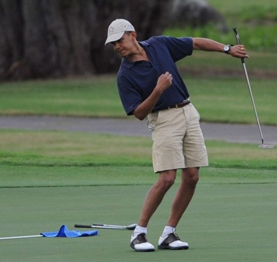 Obama plans to hit the golf course at taxpayer expense