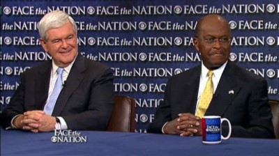 Herman Cain gives Newt Gingrich endorsement