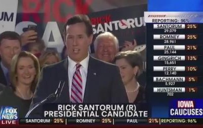 Rick Santorum Iowa Caucuses