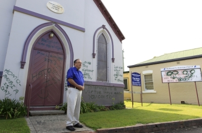 Anti-marriage gay activists vandalize church