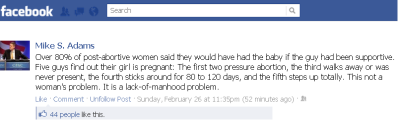 Mike Adams on abortion: click for larger image.