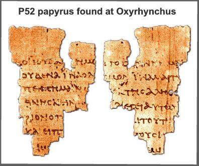 John Rylands manuscript fragment P52