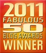 Fabulous 50 Blog Award 2011