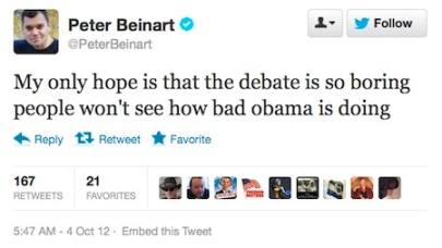 Peter Beinart says Romney defeated Obama