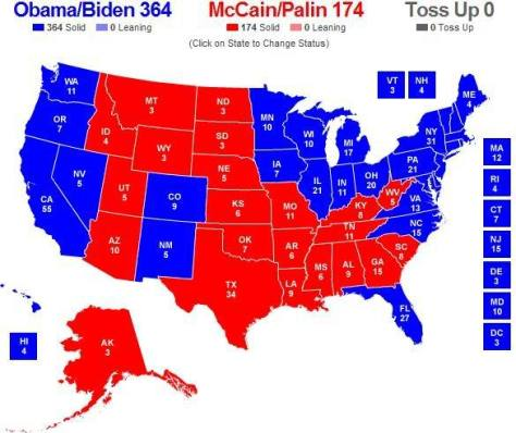 Final 2008 U.S. Presidential Election Map