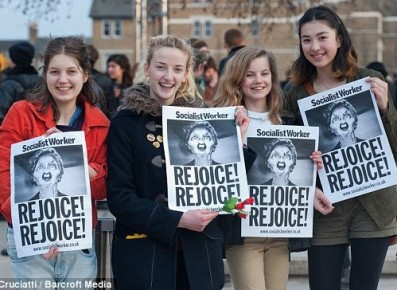 Young UK socialists rejoice over Maggie Thatcher's death