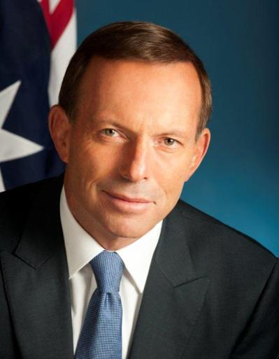Tony Abbott, future Prime Minister of Australia