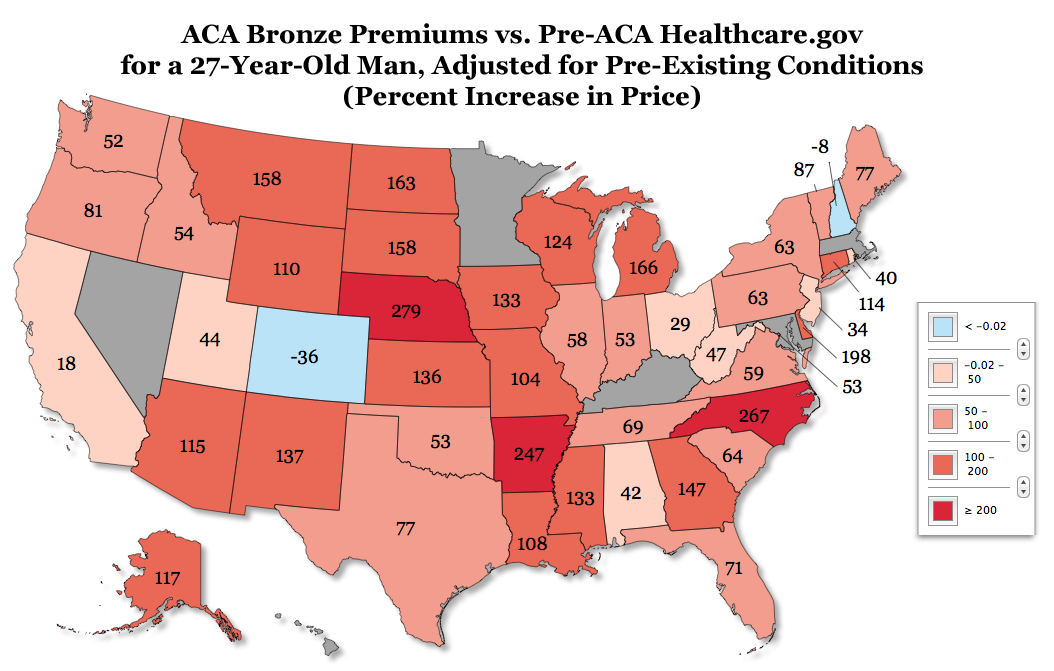 Obamacare will increase average individual-market premiums ...