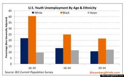 Youth unemployment by ethnicity (5/13)