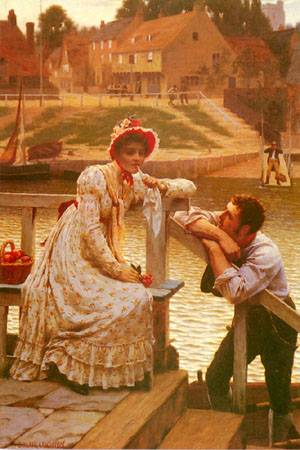 "Painting: ""Courtship"", by Edmund Blair Leighton (1888)"