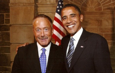 Gay activist Terry Bean and Barack Obama