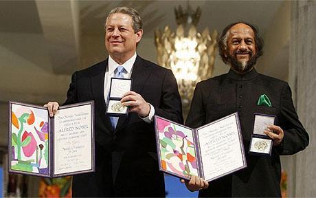 Al Gore and Rajendra Pachauri
