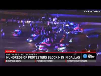 Ferguson protesters shut down highway