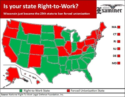 Right to Work Map 2015