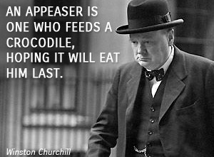 Winston Churchill on appeasement