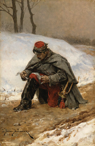 Étienne Prosper Berne-Bellecour - The wounded soldier