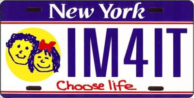 New York pro-life license plate