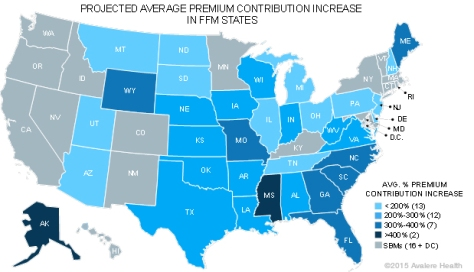 Obamacare premium increases by state