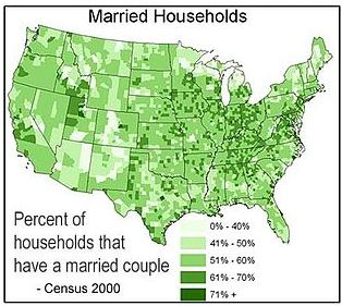 Map of marriage rate by state