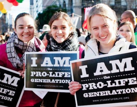 Young pro-life women protest Planned Parenthood