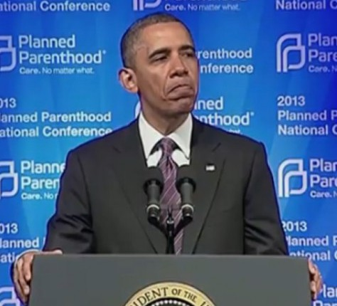 Barack Obama speaking to Planned Parenthood