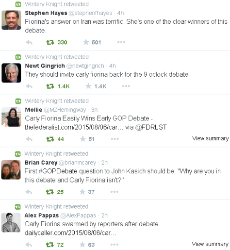 Twitter reactions to the first GOP debate