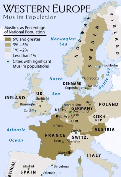 Muslim population in European countries