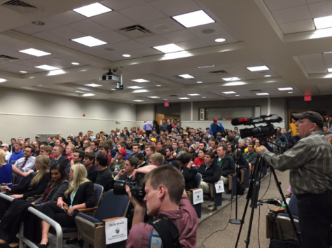 Nearly 400 students showed up to hear Ben Shapiro speak