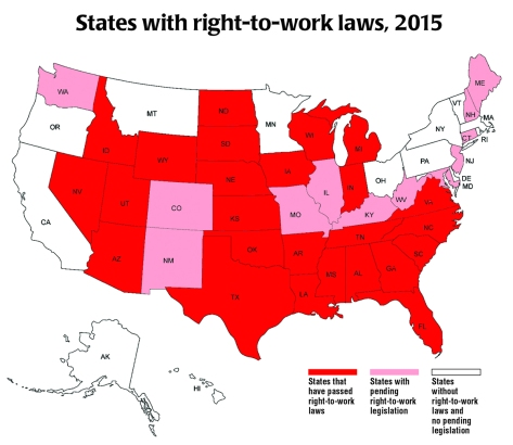 Right to work laws 2015