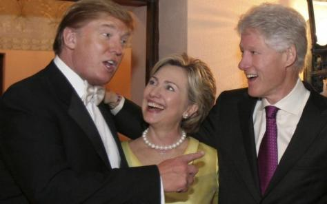 Donald Trump and his friends, the Clintons
