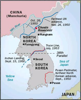 Map of the Korean War