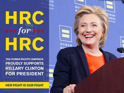 Hillary Clinton and her ally, the Human Rights Campaign