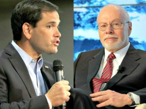 Marco Rubio and his billionaire puppet master Paul Singer