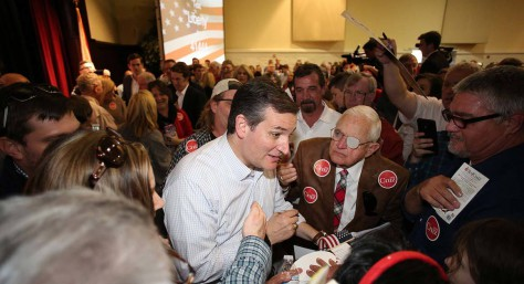 Ted Cruz meets the voters at a campaign stop