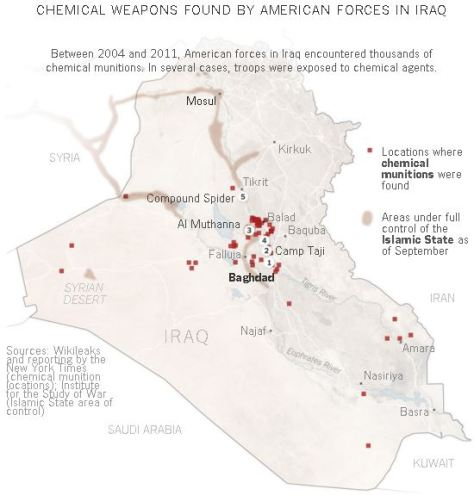 Chemical weapons found in Iraq
