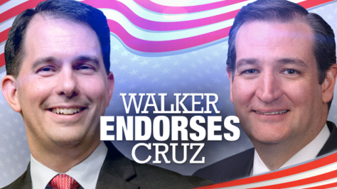 Wisconsin Governor Scott Walker endorses Texas Senator Ted Cruz