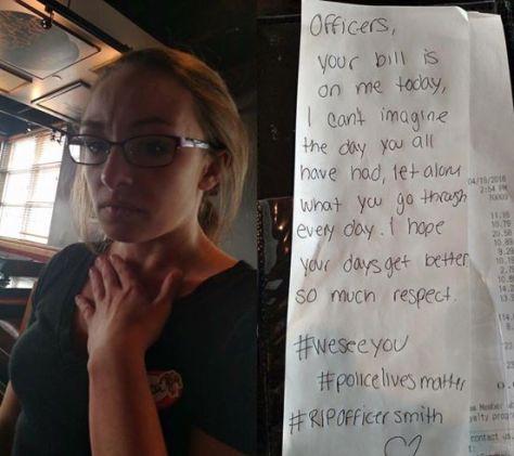 Waitress Jessica Dunbar