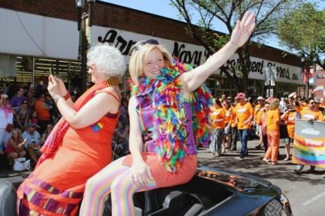 Alberta Premier Rachel Notley participated in the Edmonton Pride Parade