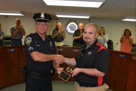 Dylan Deboard received the Citizens Award of Valor on July 25, 2016