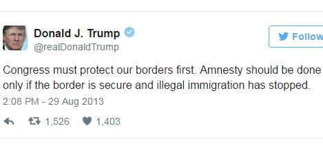 In his own words: Donald Trump embraces amnesty in August 2013