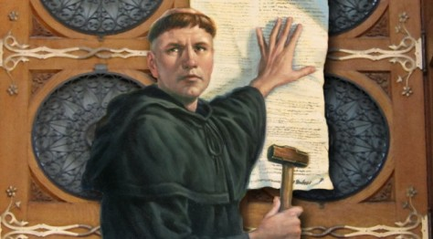 Martin Luther defies the Roman Catholic hierarchy with his 95 Theses