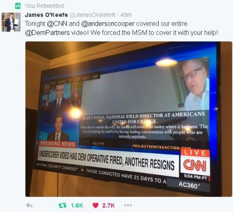 Anderson Cooper covers James O'Keefe video on CNN
