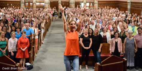 Glennon Doyle Melton in a church