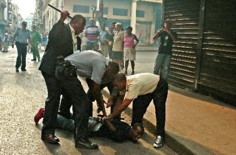 Communism in action: Cuban government arrests dissenter after a beating