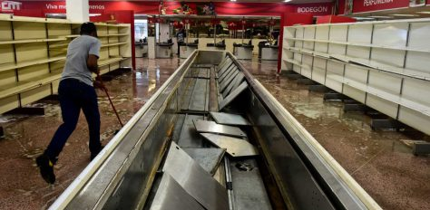 Supermarket shelves empty thanks to socialist policies